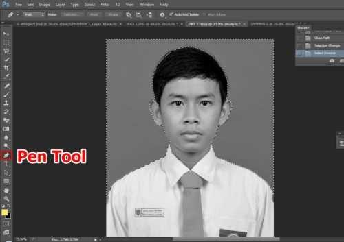 Langkah kedua Cara edit foto hitam putih menjadi warna di Photoshop