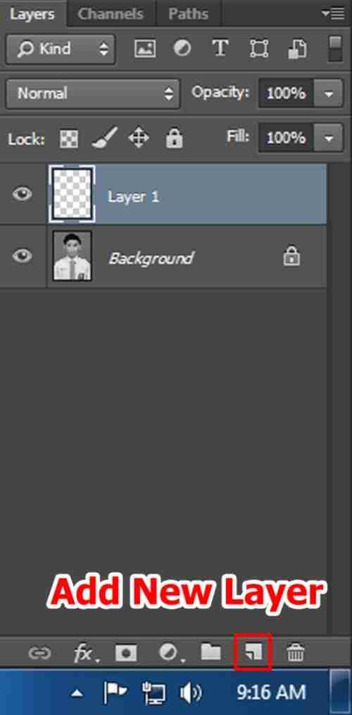 Langkah ketiga Cara edit foto hitam putih menjadi warna di Photoshop