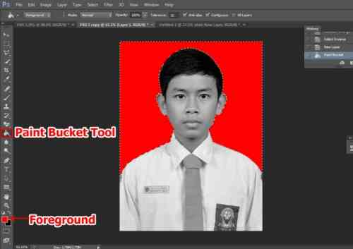 Langkah keempat Cara edit foto hitam putih menjadi warna di Photoshop