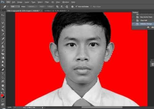 Langkah kelima Cara edit foto hitam putih menjadi warna di Photoshop