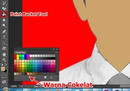 Langkah keenam Cara edit foto hitam putih menjadi warna di Photoshop