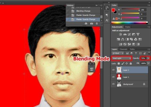 Langkah ketujuh Cara edit foto hitam putih menjadi warna di Photoshop