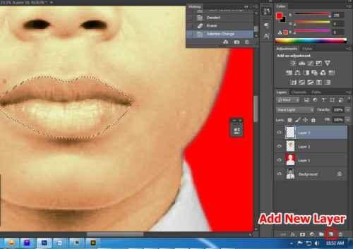 Langkah kesembilan Cara edit foto hitam putih menjadi warna di Photoshop