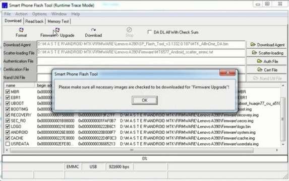 Langkah pertama Cara flash Lenovo A390 lengkap dengan tutorial video