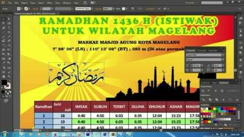Langkah ketigabelas Membuat Desain Jadwal Imsakiyah Ramadhan