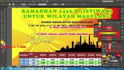 Langkah keempat belas Membuat Desain Jadwal Imsakiyah Ramadhan