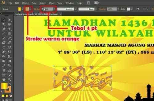 Langkah kelima belas Membuat Desain Jadwal Imsakiyah Ramadhan