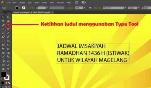 Langkah kelima Membuat Desain Jadwal Imsakiyah Ramadhan