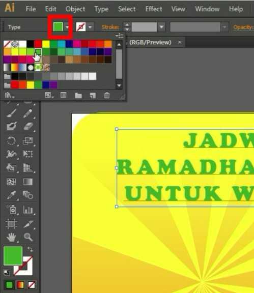 Langkah ketujuh Membuat Desain Jadwal Imsakiyah Ramadhan