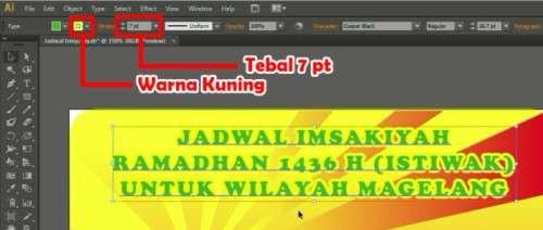 Langkah kesembilan Membuat Desain Jadwal Imsakiyah Ramadhan