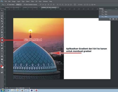 Langkah kelima Cara Membuat Kartu Lebaran 2015 dengan Photoshop