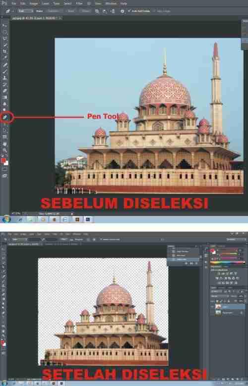 Langkah kedua Cara Membuat Kartu Ucapan Ramadhan dengan Photoshop