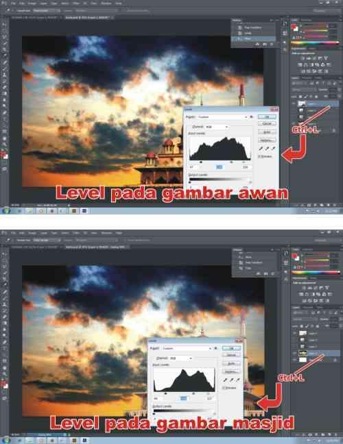 Langkah keempat Cara Membuat Kartu Ucapan Ramadhan dengan Photoshop