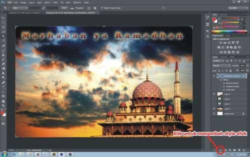 Langkah kelima Cara Membuat Kartu Ucapan Ramadhan dengan Photoshop