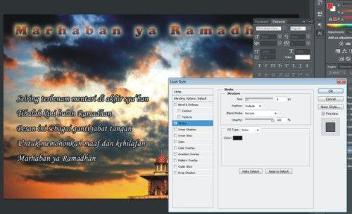 Langkah ketujuh Cara Membuat Kartu Ucapan Ramadhan dengan Photoshop