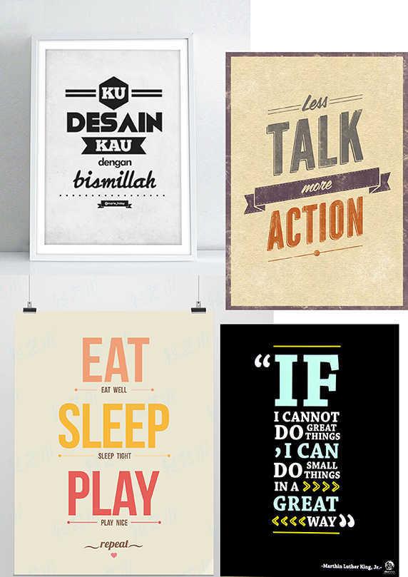 contoh typografi quotes