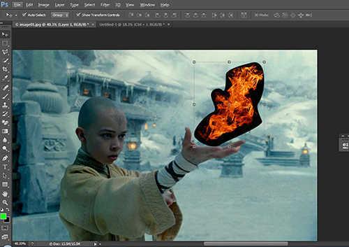 langkah ke tujuh Cara Membuat Efek Api dengan Photoshop