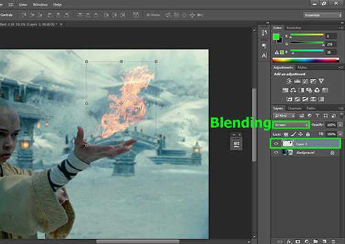 langkah ke delapan Cara Membuat Efek Api dengan Photoshop