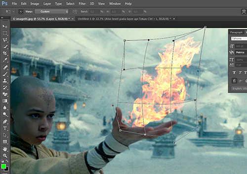 langkah ke sepuluh Cara Membuat Efek Api dengan Photoshop