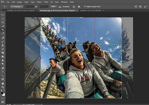 langkah pertama Cara Membuat Efek Fisheye Menggunakan Photoshop