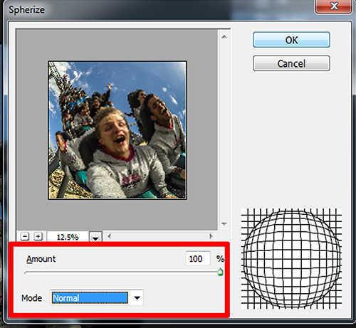lamgkah ke sebelas Cara Membuat Efek Fisheye Menggunakan Photoshop