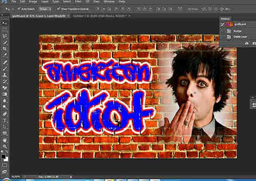 langkah ke lima belas Membuat Grafiti dengan Photoshop