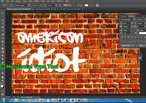 langkah ke lima Membuat Grafiti dengan Photoshop