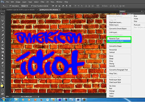 langkah ke tujuh Membuat Grafiti dengan Photoshop