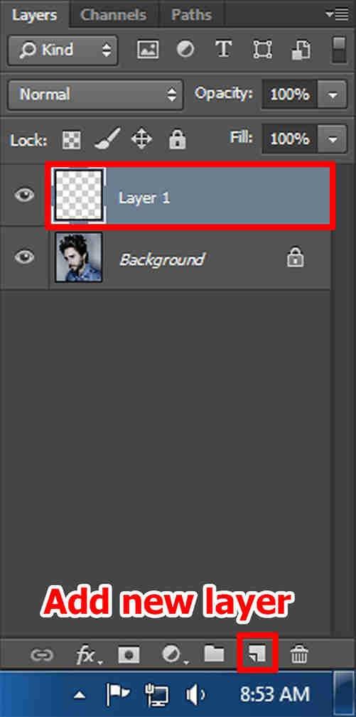 langkah kedua Cara Membuat Desain Kaos Tipografi dengan Photoshop
