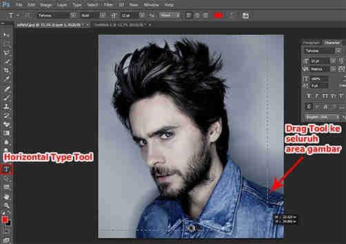 langkah ketiga Cara Membuat Desain Kaos Tipografi dengan Photoshop