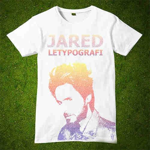 hasil langkah Cara Membuat Desain Kaos Tipografi dengan Photoshop