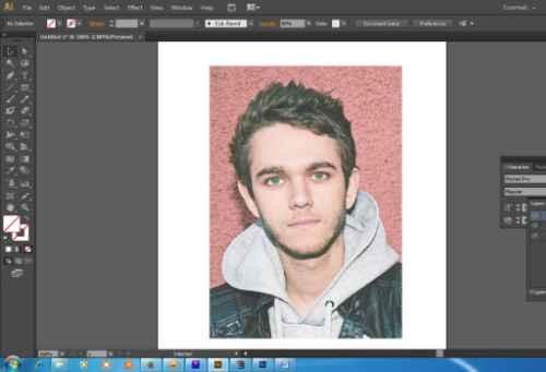 Langkah pertama Cara membuat WPAP dengan Adobe Illustrator CS6