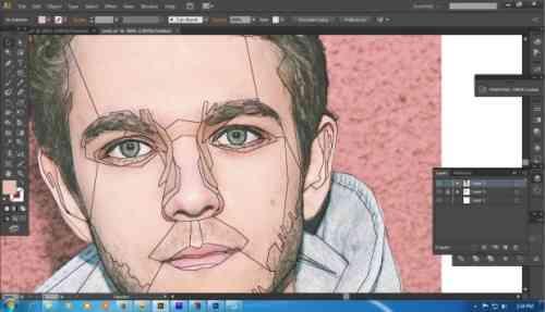 Langkah kedua Cara membuat WPAP dengan Adobe Illustrator CS6