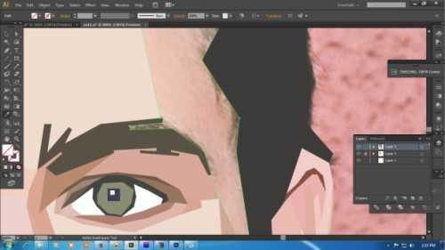 Langkah ketiga Cara membuat WPAP dengan Adobe Illustrator CS6