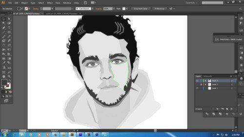 Langkah keempat Cara membuat WPAP dengan Adobe Illustrator CS6