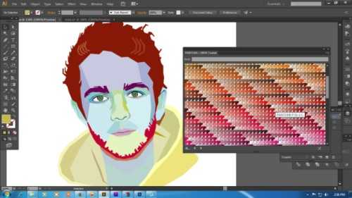 Langkah kelima Cara membuat WPAP dengan Adobe Illustrator CS6