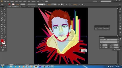 Langkah keenam Cara membuat WPAP dengan Adobe Illustrator CS6