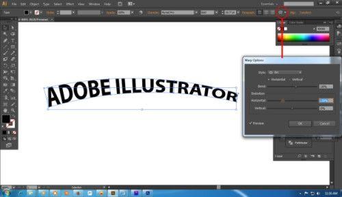 Langkah pertama Cara Membuat Teks 3D dengan Adobe Illustrator