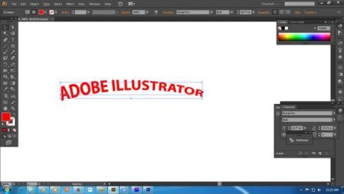 Langkah kedua Cara Membuat Teks 3D dengan Adobe Illustrator