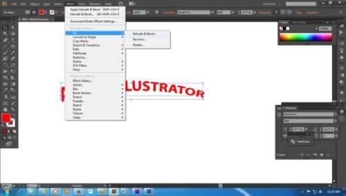 Langkah ketiga Cara Membuat Teks 3D dengan Adobe Illustrator
