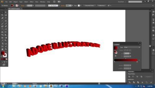 Langkah ketujuh Cara Membuat Teks 3D dengan Adobe Illustrator