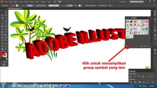 Langkah kedelapan Cara Membuat Teks 3D dengan Adobe Illustrator