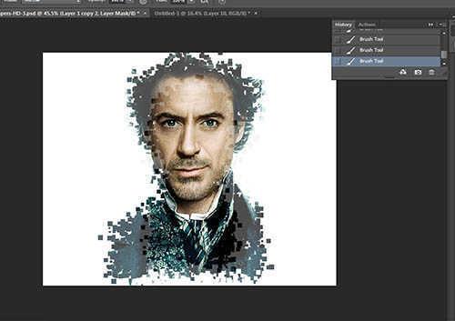 langkah ke sebelas Cara Membuat Border Pixel Dengan Photoshop