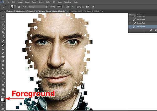 langkah ke sembilan Cara Membuat Border Pixel Dengan Photoshop