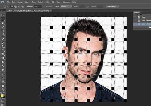 langkah ke tiga belas Cara Membuat Efek Anyaman Pada Foto Dengan Photoshop