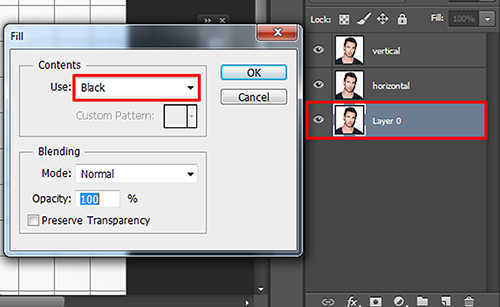 langkah ke lima Cara Membuat Efek Anyaman Pada Foto Dengan Photoshop
