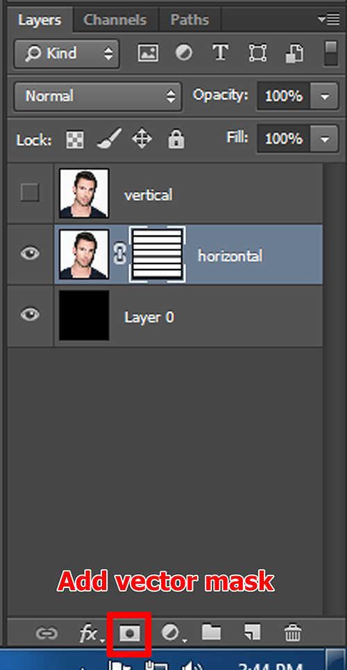 langkah ke sembilan Cara Membuat Efek Anyaman Pada Foto Dengan Photoshop