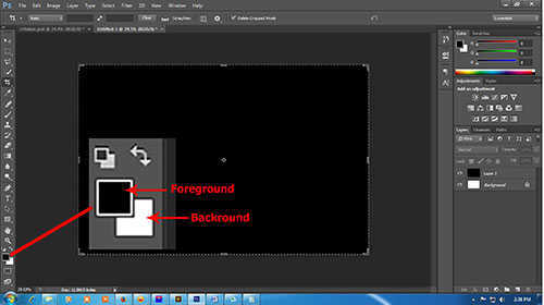 langkah pertama Cara Membuat Efek Api Pada Tulisan dengan Photoshop