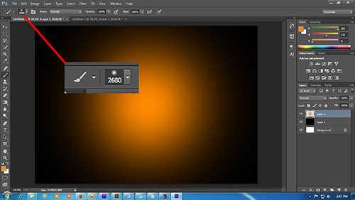 langkah ke tiga Cara Membuat Efek Api Pada Tulisan dengan Photoshop