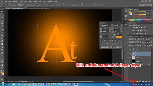 langkah ke empat Cara Membuat Efek Api Pada Tulisan dengan Photoshop